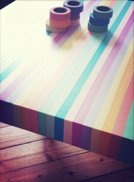 colorful-washi-tape-table-designs