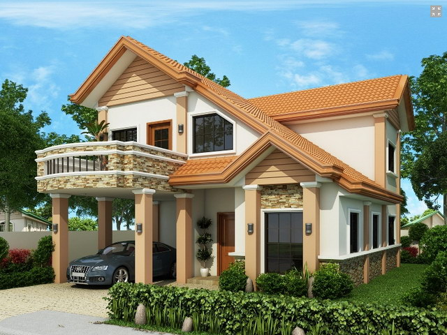 contemporary 2 storey house with impressive design (2)
