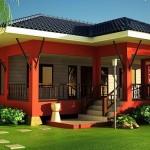 แบบบ้านยกสูงขนาดชั้นเดียว ออกแบบดีไซน์ร่วมสมัย มาพร้อมเฉลียงบ้านน่ารักๆ