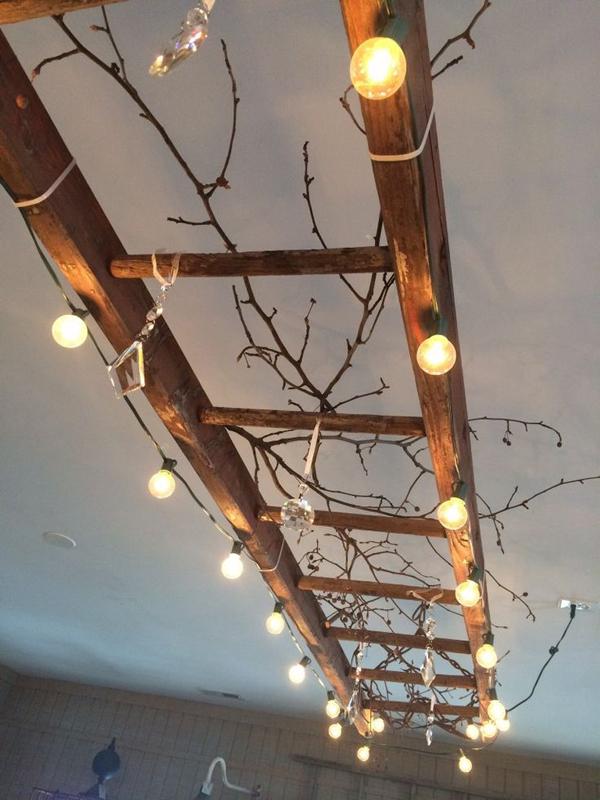diy-vintage-ladder-string-lights