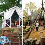15 ไอเดีย พื้นที่เอ้าดอร์สำหรับเด็ก ในรูปแบบบ้านขนาดเล็ก
