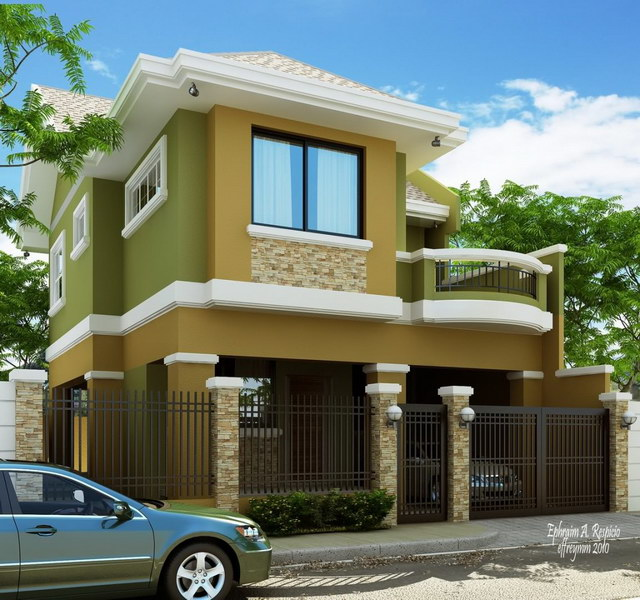 evalated Classy modern greenish house_3