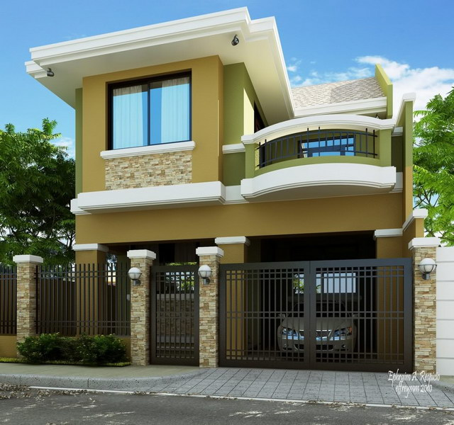 evalated Classy modern greenish house_4