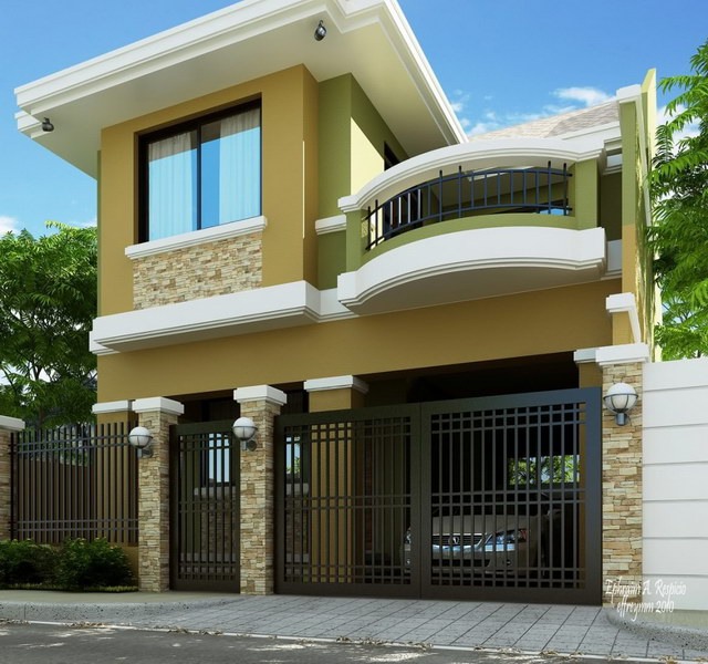 evalated Classy modern greenish house_5