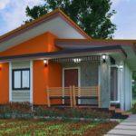 บ้านโมเดิร์นหลังเล็ก 2 ห้องนอน 1 ห้องน้ำ โดดเด่นด้วยผนังปูนเปลือยตัดกับโทนสีส้ม