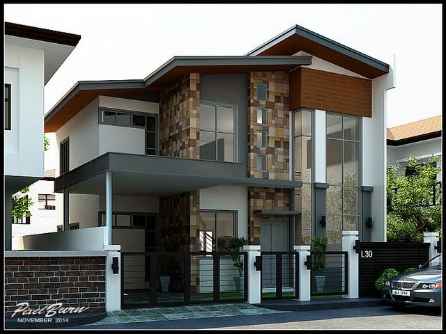 flatted roof modern black house (1)