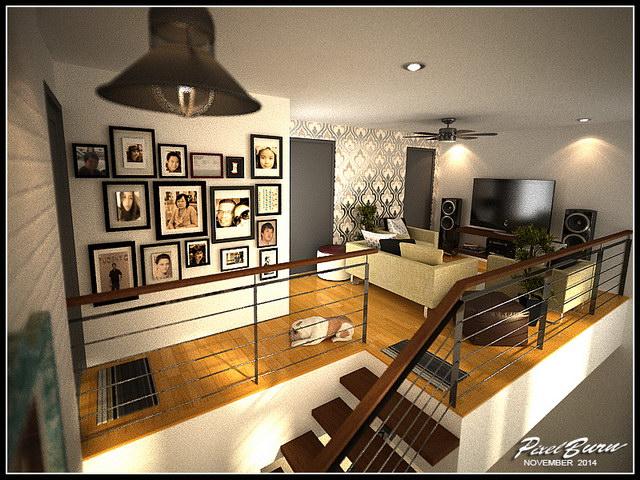 flatted roof modern black house (2)