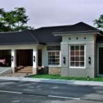 บ้านร่วมสมัย รูปทรงและโทนสีสวยงาม มาพร้อมหลังคาปั้นหยา ให้ความแข็งแรงและภูมิฐาน