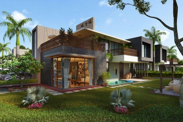 modern contemporary house with natural ambiance