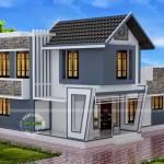แบบบ้านโมเดิร์นทรงสูง หลังคาหน้าจั่ว ตกแต่งอย่างสร้างสรรค์ ราวกับฝันที่เป็นจริงของคนรักบ้าน