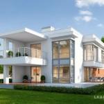 บ้านโมเดิร์นหน้าแคบหลังลึก ในดีไซน์ที่เรียบง่ายแต่มีเสน่ห์ พร้อมความโปร่งโล่งแบบพิเศษ