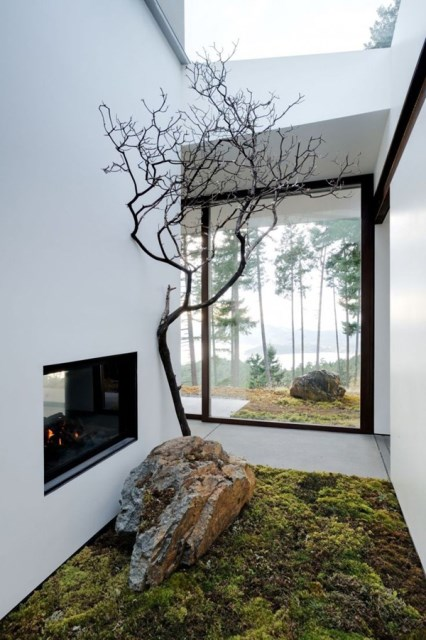 modern-japanese-garden-with-indoor-fireplaces