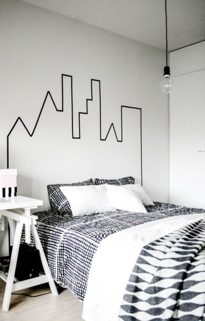 simple-washi-tape-bedroom-wallpaper