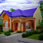 บ้านชั้นเดียวหลังคาทรงจั่ว สีสันสดใส เหมาะสำหรับครอบครัวเริ่มต้น