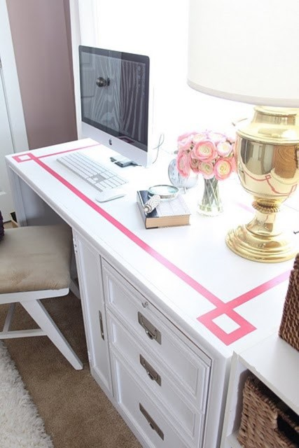 washi-tape-office-table-decoration
