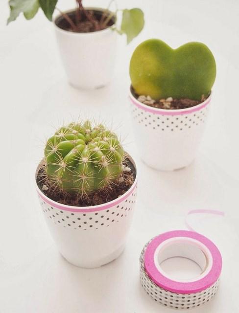 washi-tapeplant-pots