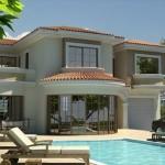 แบบบ้านโมเดิร์นสุดหรู เรียบง่ายด้วยโทนสีขาว ออกแบบพร้อมสระว่ายน้ำ