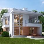 บ้านโมเดิร์นโทนสีขาว เน้นความโปร่งโล่งด้วยผนังกระจก มาในรูปทรงที่โดดเด่นทันสมัย