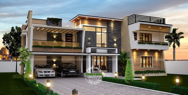 wide facade modern contemporary natural house (1)