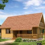 บ้านคันทรีหลังคาทรงจั่ว ความสวยงามของรูปทรง และสีสันที่ร้อนแรง