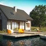 บ้านสวนสไตล์ร่วมสมัย มาพร้อมเฉลียงขนาดใหญ่ เพื่อการพักผ่อนริมสระน้ำ