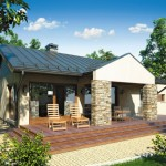 บ้านร่วมสมัย ขนาดกำลังดีกับครอบครัวเล็ก มาพร้อมกับสวนสวยและเฉลียงหลังบ้าน