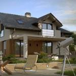 บ้านร่วมสมัยสองชั้น ความสวยงามที่ลงตัว ของคอนกรีตเปลือยและไม้