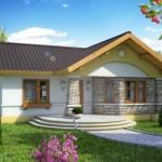 บ้านหลังคาทรงจั่ว ตกแต่งอย่างเป็นธรรมชาติ ในขนาดที่เหมาะสำหรับครอบครัวเล็กๆ