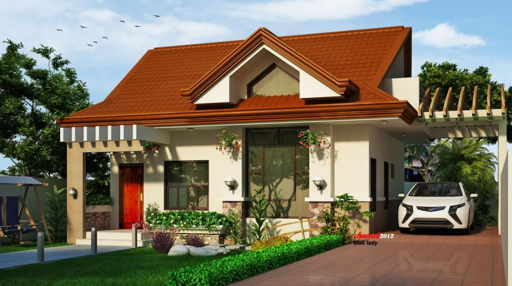 Bungalow house with attic design