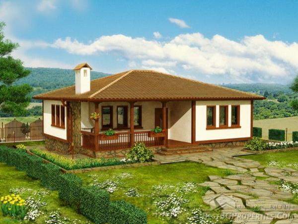 1 storey hip roof country house (1)