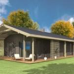 บ้านร่วมสมัยออกแบบเรียบง่าย 2 ห้องนอน 2 ห้องน้ำ และเฉลียงรอบบ้าน บนพื้นที่ขนาดเล็กเพียง 101 ตร.ม.