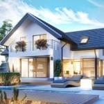บ้านวิลล่าขนาดใหญ่ มาพร้อมกับสวนสวยและสระว่ายน้ำ ตกแต่งสไตล์ภูมิฐาน