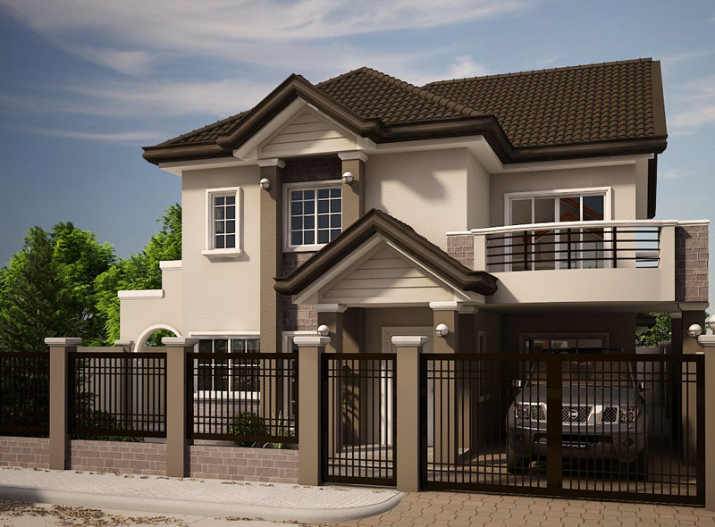 2 storey contemporary house for middle family (1)