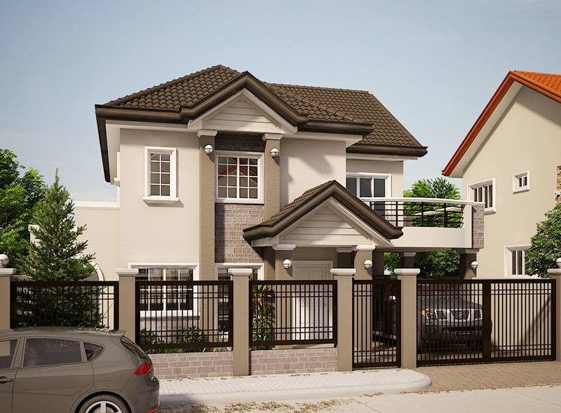 2 storey contemporary house for middle family (2)
