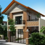 แบบบ้านสองชั้นหลังคาทรงจั่ว ขนาดกำลังดี ในรูปแบบร่วมสมัยที่คนไทยคุ้นเคย