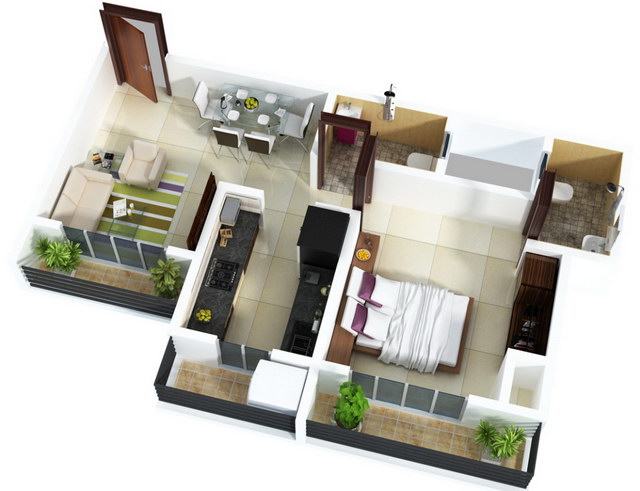 20 one bedroom house plans_01