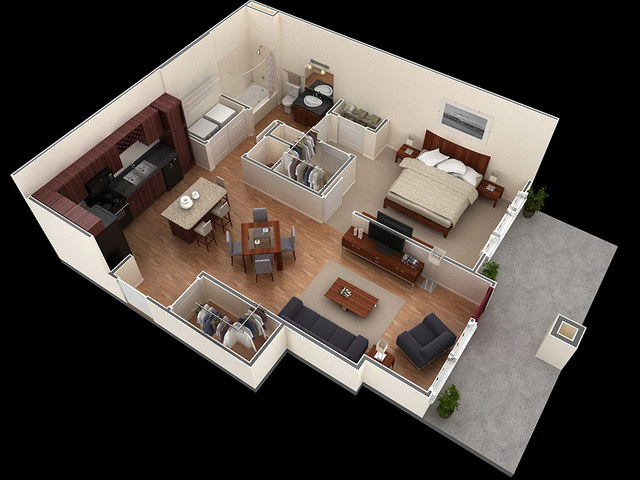20 one bedroom house plans_03
