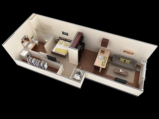 20 one bedroom house plans_04