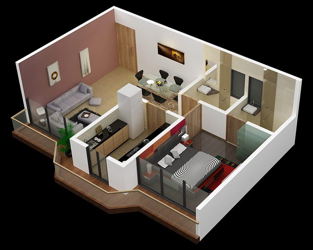 20 one bedroom house plans_05