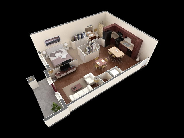 20 one bedroom house plans_08