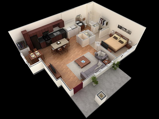 20 one bedroom house plans_10
