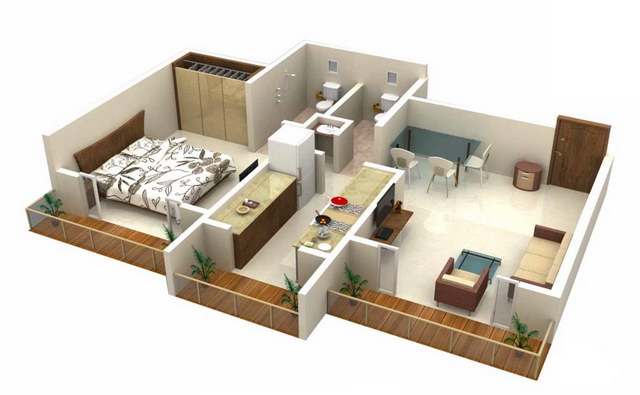 20 one bedroom house plans_12