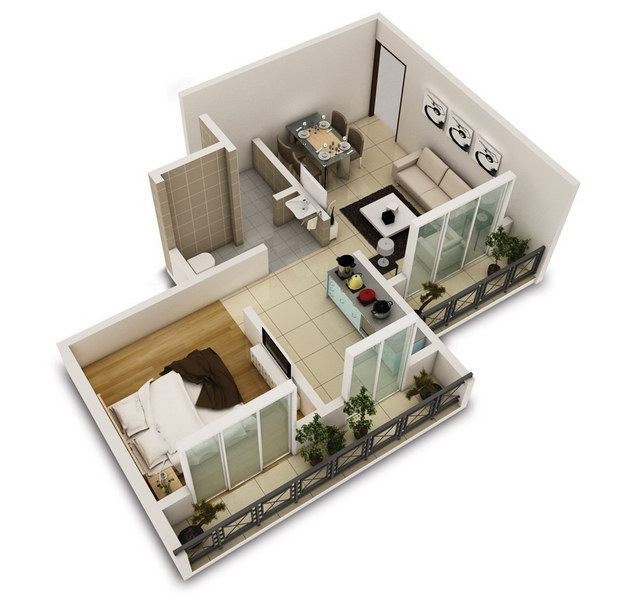 20 one bedroom house plans_14
