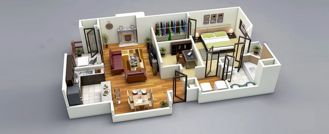 20 one bedroom house plans_15