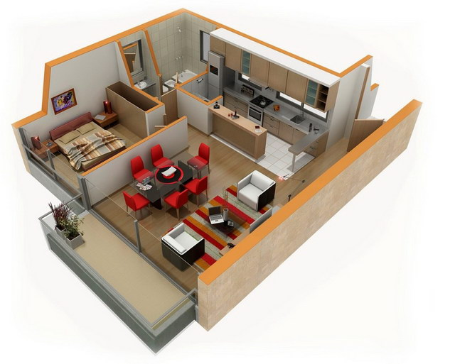 20 one bedroom house plans_17