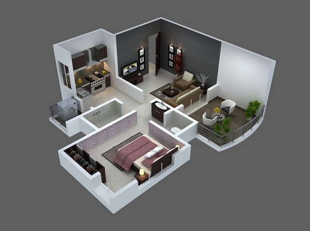 20 one bedroom house plans_18