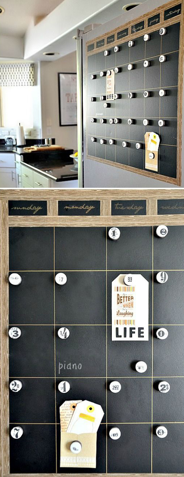 DIY-magnetic-chalkboard-calendar