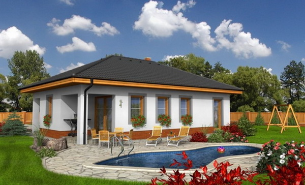 Hip roof house with relaxation exterior (3)