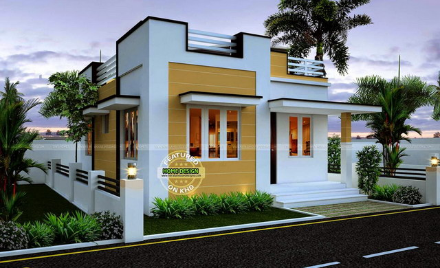 Small modern house with space on the roof_2