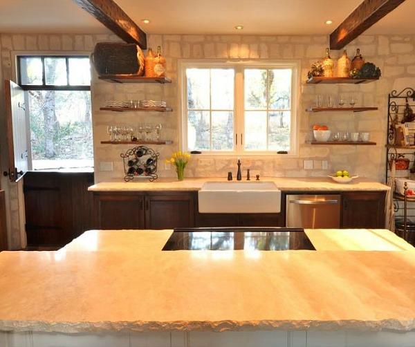 Small-stone-cottage-Fredericksburg-TX-kitchen
